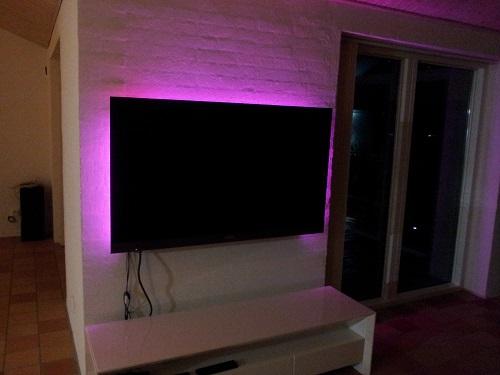 LEDstrip runt TV